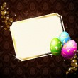 Elegant Card With Gold Decorated Easter Eggs - Stock Vector