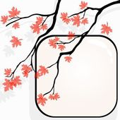 Autumnal Tree Background — Stock Vector