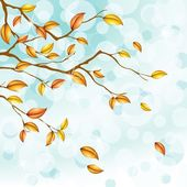 Autumn Foliage Background — Stock Vector