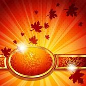 Elegant Horizontal Autumn Banner — Stock Vector