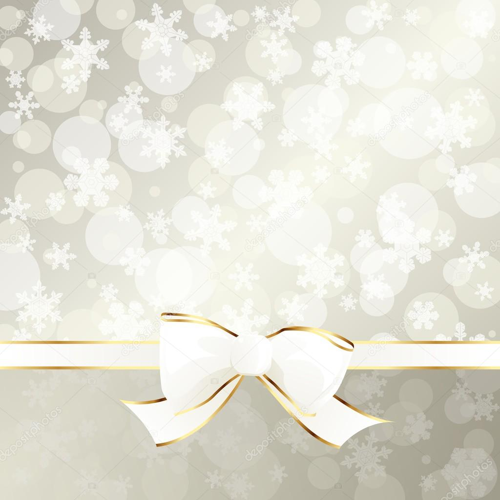 White and beige decorative holiday background with transparencies. Graphics are grouped and in several layers for easy editing. The file can be scaled to any size. — Stock Vector #12205570
