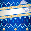 Stock Vector: Vibrant blue banner inspired by Indimehndi designs