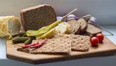 Affettare il pane — Foto Stock