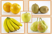 Five fruits per day — Stock Photo