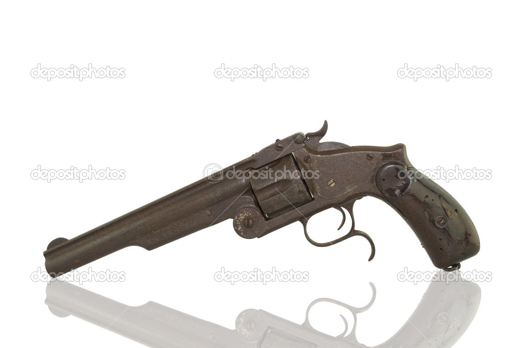 Photo of an old pistol on a white background. — Stock Photo #14092861