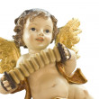 Christmas angel with accordion — Stock Photo