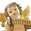 Little angel with accordion — Stock Photo