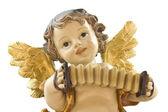 Aniołek z akordeon — Zdjęcie stockowe