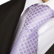 Purple tie of a man — Stock Photo