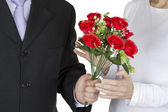Bouquet of red roses for you — Stock Photo
