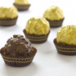 Several chocolate bonbons — Stock Photo