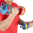 Man doing weights — Stock Photo