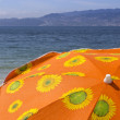 Sun beach umbrella — Stock Photo
