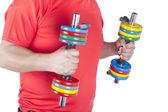 Człowiek robi treningu siłowego — Zdjęcie stockowe