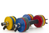 Set of dumbbells — Stock Photo