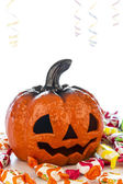 Pumpkin in halloween party — Stock Photo