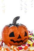 Pumpkin in halloween party — Stock Photo