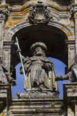 Statue of the Apostle James in the cathedral — Stock Photo