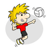 Volleyball Spike — Stock Vector