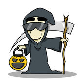Death reaper halloween costume — Stock Vector