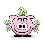Rich Piggy Bank — Stock Vector