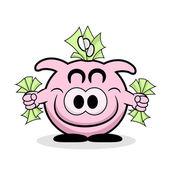 Rich Piggy Bank — Stock Vector