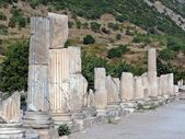 Columns along an ancient street — Stock Photo