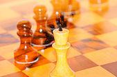Fundo xadrez em movimento — Fotografia Stock
