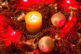 Vela de la navidad — Foto de Stock
