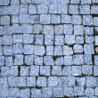 Bright blue stone bricks background — Stock Photo