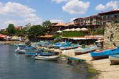 Barcos de pesca em porto — Foto Stock