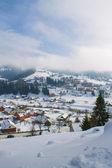 Bergdorf im schnee — Stockfoto