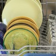 Stock Photo: Dishes, washed in dishwasher
