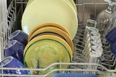 Dishes, washed in the dishwasher — Stock Photo