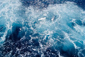 Seething-Mediterranean-sea-water-shot-in-the-open-sea-from-direc — Stock Photo