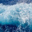 Foto Stock: Foamy-surface-of-sea-water-shot-in-the-open-sea-directly-from-ab