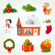 Christmas icon set — Stock Vector #16684319