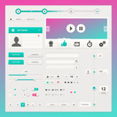 Vector user interface elements for web and mobile. — Stock Vector