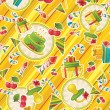 Seamless pattern with party supplies — Stock Photo