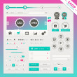 Shop edition of vector user interface elements for web and mobile. - Stok Vektör