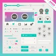 Shop edition of vector user interface elements for web and mobile. — Stockvectorbeeld