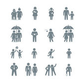Family and friends icons — Stock Vector