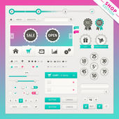 Shop edition of vector user interface elements for web and mobile. — Stock Vector