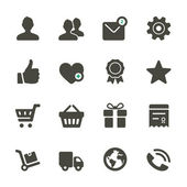 Universal vector icons set. Profile, Favorites, Shopping, Service — Stock Vector