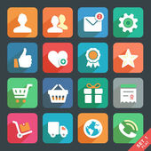 Universal Flat icons set for Web and Mobile App. — Stock Vector