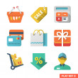 Shopping icon set for Web and Mobile Application — Stock Vector