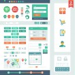 Stock Vector: Vector UI elements for web and mobile.
