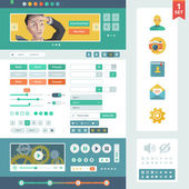 Vector UI elements for web and mobile. — Stock Vector
