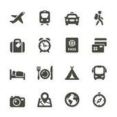 Traveling and transport icons — Stock Vector