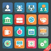 Office and business Flat icons — Stock Vector